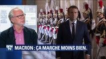 Laurent Joffrin explique la chute de la cote de popularité d'Emmanuel Macron