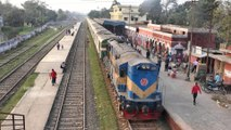 Sundarban Express Train Departing Jessore Railway Station in 4k