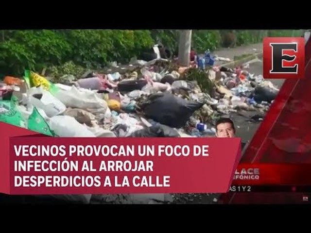 Vecinos utilizan la calle como basurero en Iztapalapa