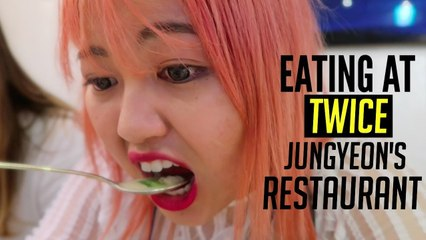 Eating at TWICE JEONGYEON Dad's Restaurant For the First Time!