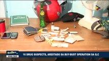 16 drug suspects, arestado sa buy-bust operation sa QC