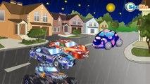 Un Camion Monstruo, Coches de Carreras. Caricaturas de carros. Carritos Para Niños. Tiki Taki Carros