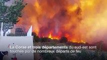 Incendies dans le sud de la France: plus de 3000 hectares partis en fumée
