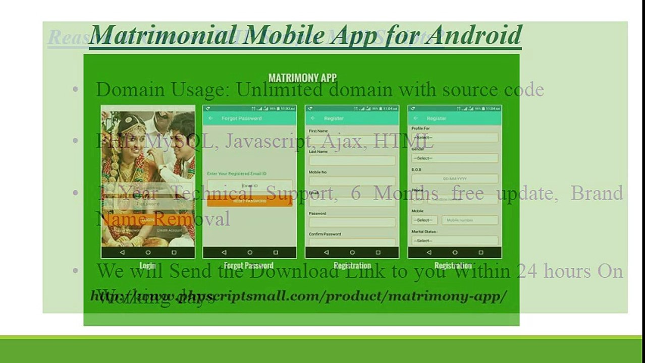 Matrimony Android App - Matrimonial Mobile App for Android