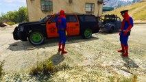 Oransje Politibiler I Morsom Tegnefilm Spiderman Politimann For Barnas