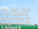 Read  They Say  I Say The Moves That Matter in Academic Writing with Readings Third High 137b0477
