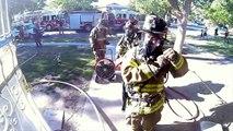 Bombeiro usando Go Pro registra o resgate de um gatinho em um incêndio