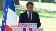 """""""Aujourd'hui, la cause de la paix en Libye a fait un grand progrès"""" : Emmanuel Macron"""