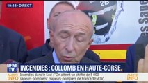 """Incendie: """"Dans le Vaucluse, deux pompiers sont grièvement blessés"""", dit Collomb"""