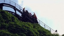 Alton Towers 'Oblivion' rollercoaster stops mid-air