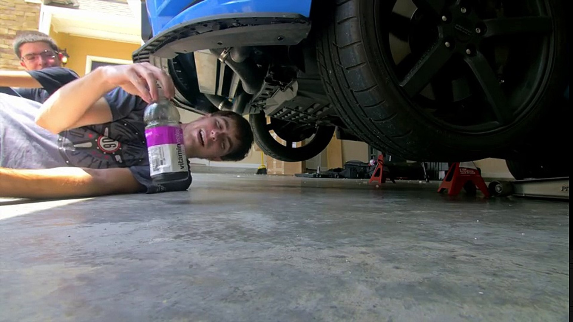 BOOST AN OIL!- Procharger Oil Change in SmurrfStang That Dude in Blue