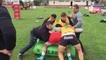Entrainement des joueurs du RCT en Argentine : Au programme les rucks