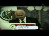 La sobremesa Lamentable pérdida la del literato y novelista Carlos Fuentes