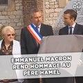 Emmanuel Macron rend hommage au Père Hamel à Saint-Étienne-du-Rouvray