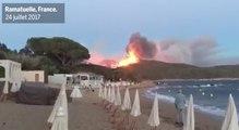 Incendies : des vidéos amateurs montrent l'ampleur des dégâts