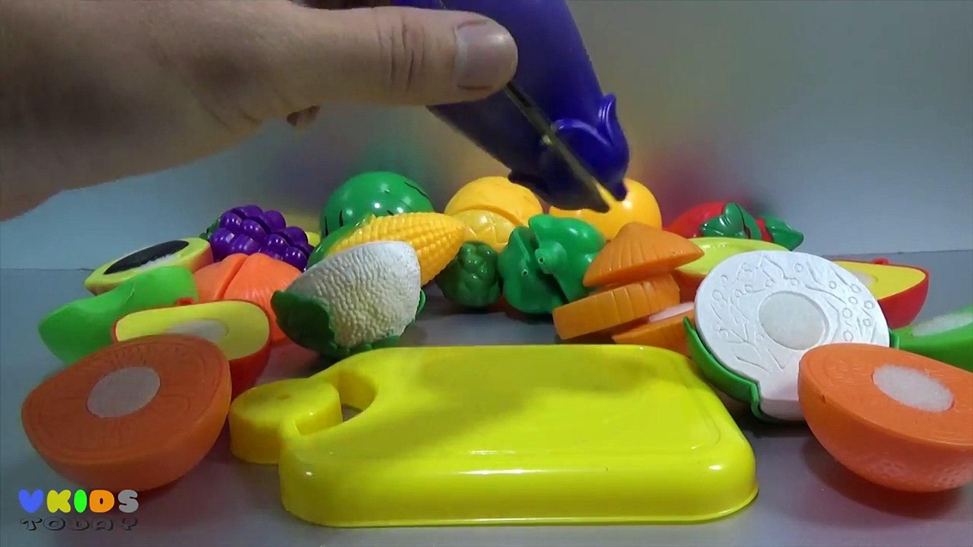 И цвета резка фрукты фрукты Узнайте имен из игрушка овощи липучка с v