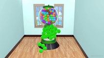 Bébé bain Bonbons enfants les couleurs couleurs pour enfants Apprendre sucettes les tout-petits avec 3d learni