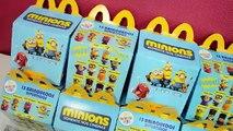 Minions Mc Donalds Nova Coleção (Mc Lanche Feliz, Meu Malvado Favorito) Minions Toys Colle