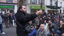 Prière de rue après la fermeture administrative dune mosquée. Clichy/France - 22 Mars 201