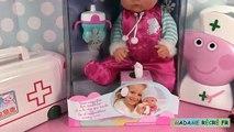 Porc renaître poupée nenuco malade peppa mallette médicale et docteur masha jolie bébé