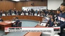 Ex-presidential chief of staff Kim Ki-choon and former Culture Ministers found guilty in their first sentencing hearings