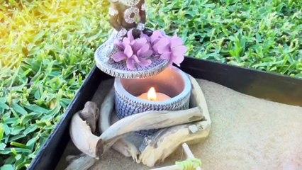 Mini jardín de mesa Zen. Karesansui. Hazlo tu mismo ⛩