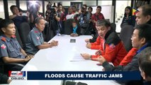 Floods cause traffic jams