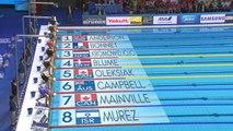 100m libre - 1/2 finales avec Charlotte Bonnet