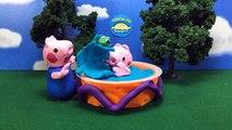 Et lit dans Pantalon porc pâte à modeler caca le le le le la toilette entraînement humide avec Peppa stop-motion georges