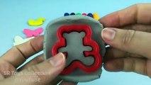 Moules Apprendre couleurs la modélisation argile avec papillon ourson ours moules amusement Créatif
