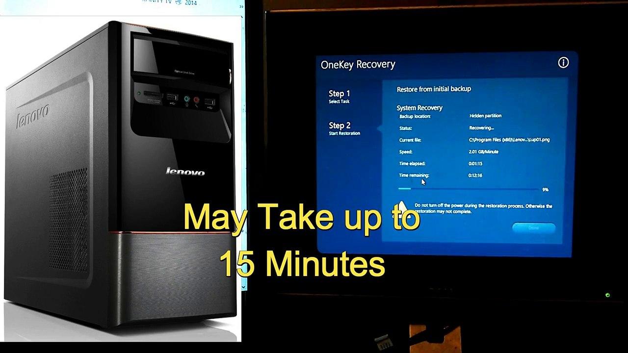 Lenovo H430 Desktop Factory Reset Windows 8