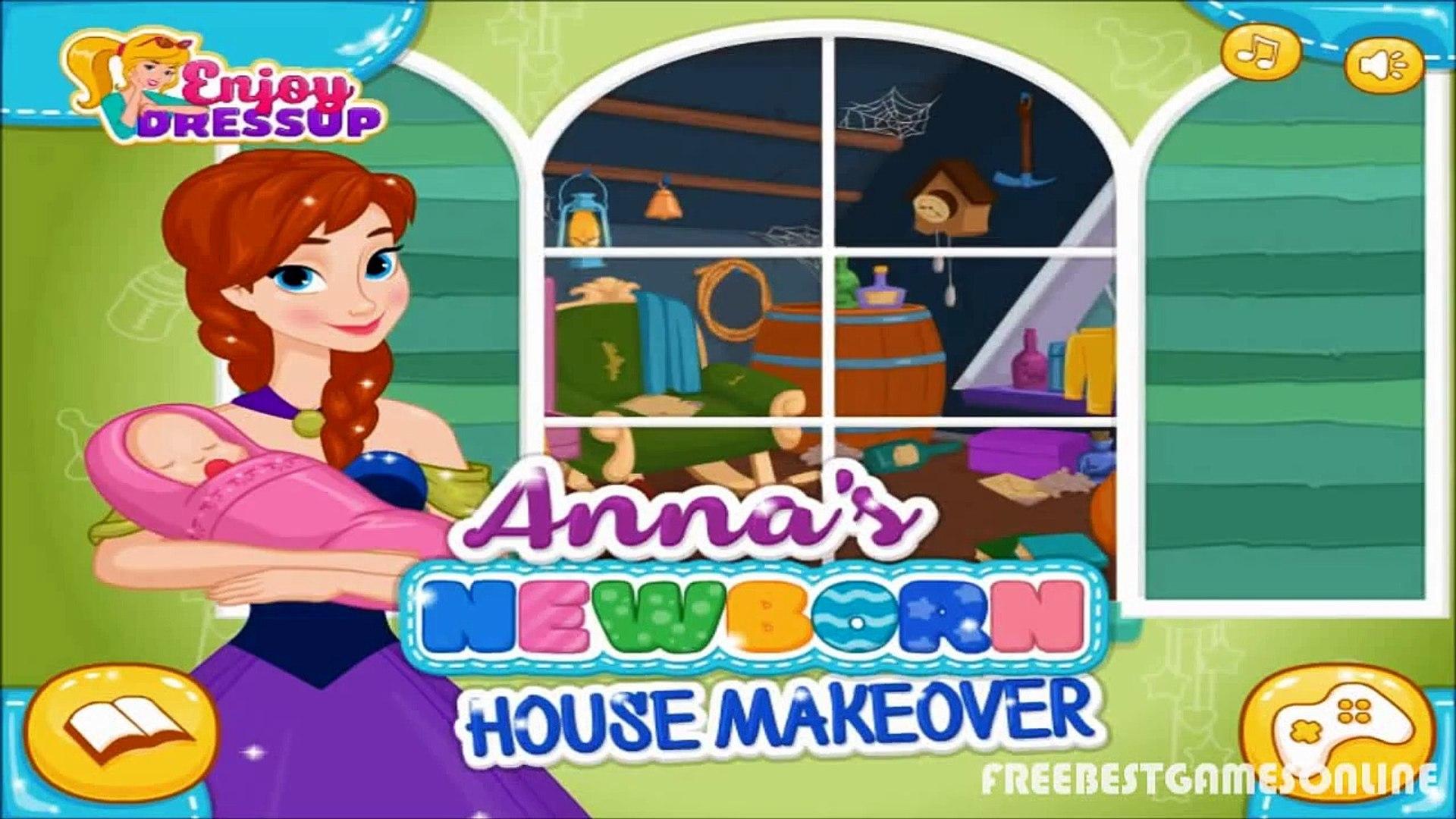 Анна Анна Детка ребенок замороженный замороженные игра дом макияж новорожденный Принцесса