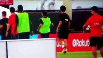 Neymar et Nelson Semedo se bagarrent à l'entraînement !