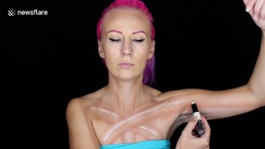 Talented makeup artist creates twisted bodypainting illusion