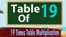19 Times Table Multiplication   Learn 19x Table   Learn Nineteen Multiplication Tables For Kids