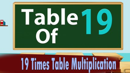 19 Times Table Multiplication | Learn 19x Table | Learn Nineteen Multiplication Tables For Kids