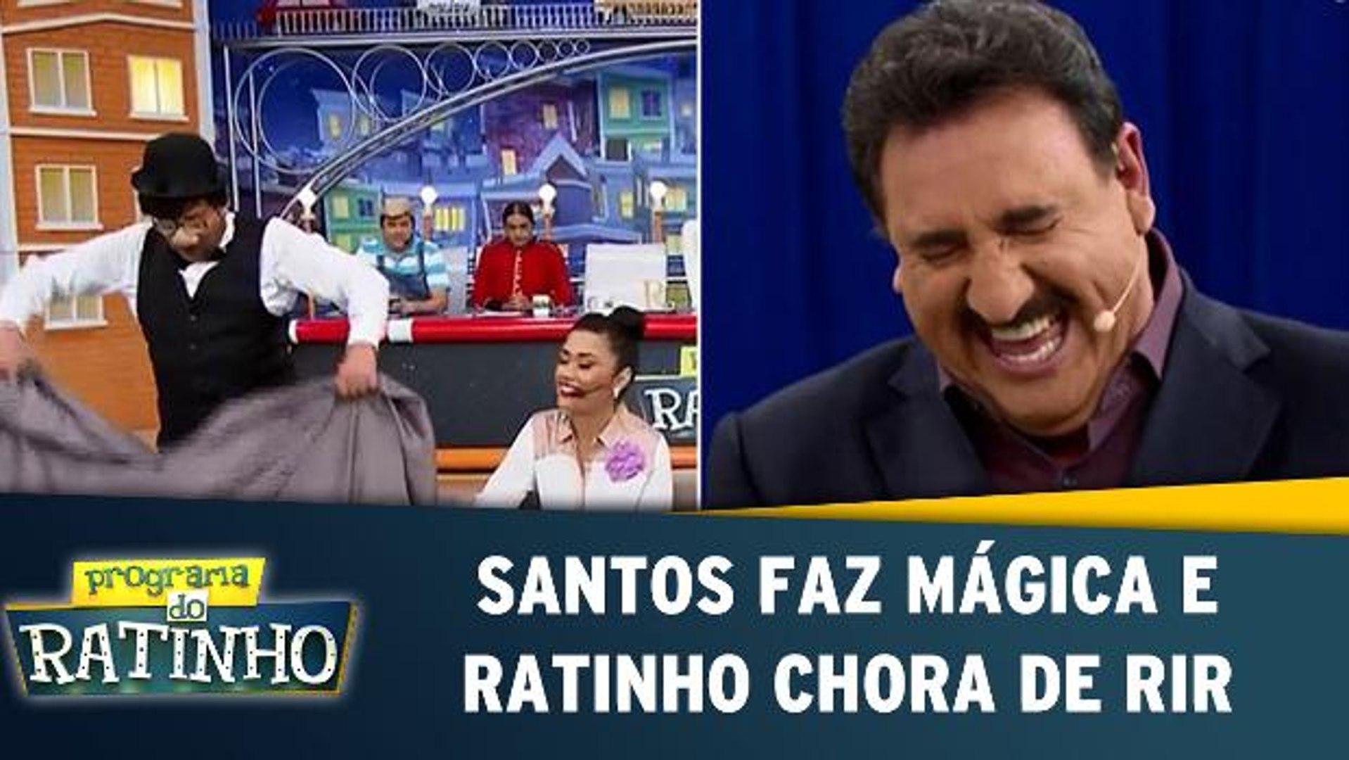 77630eb83 Santos faz mágica e Ratinho chora de rir - Vídeo Dailymotion