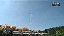 Coreia do Norte lança novo míssil intercontinental
