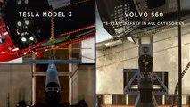 Tesla  Watch a Tesla Model 3 vs Volvo S60 sidepole impact test