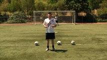 Un et un à un un à balle Comment donner un coup coups de pied tournage Football Football à Il Football |