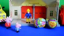 Des œufs pompier porc homme araignée histoire jouets Peppa sam peppa surprise