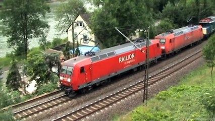 Bahnen zwischen Loreley und Roßsteintunnel Teil 03,ECC185,3x145,Railpool E186,185,151