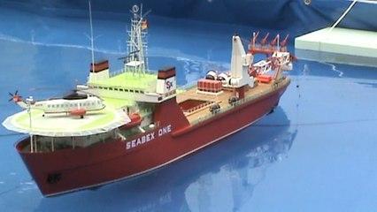"""Modellschiff """"Seabex One"""" Taucherbasisschiff Flensburger Dampfrundum 08.07.2017"""