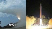 Les deux Corées s'affrontent par images d'essais de missiles interposées
