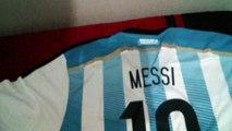 Comparativo Camisa da Espanha 2014 Oficial x Camisa da Argentina 2014 Suposta Réplica
