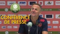 Conférence de presse Valenciennes FC - Gazélec FC Ajaccio (1-1) : Faruk HADZIBEGIC (VAFC) - Albert CARTIER (GFCA) - 2017/2018