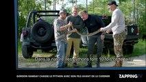 Gordon Ramsay chasse le python avec son fils avant de le cuisiner (vidéo)