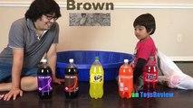 Et bébés enfants les couleurs couleurs pour enfants Apprendre les tout-petits avec coca cola fanta