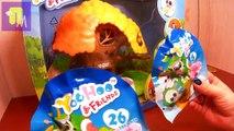 Et plage aveugle amis sa et jouets avec amis Juha déballer des sacs surprises yoohoo b
