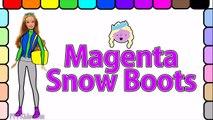 Coloration journée Robe pour amusement amusement sa montagne de de sur jouer ski le le le le la vers le haut en haut avec Barbie barbie page s
